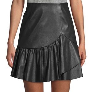 Size 4 Rebecca Taylor Vegan leather skirt